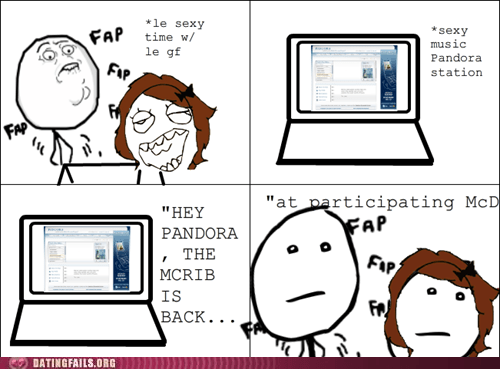 Ad comic commercial mcrib pandora rage comic We Are Dating - 5436540672