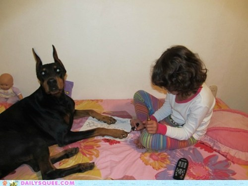 acting like animals,do not want,doberman,dogs,fabulous,flabbergasted,human,manicure,nails,speechless,toddler
