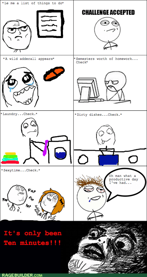 adderall chores Rage Comics to-do list - 5437436416