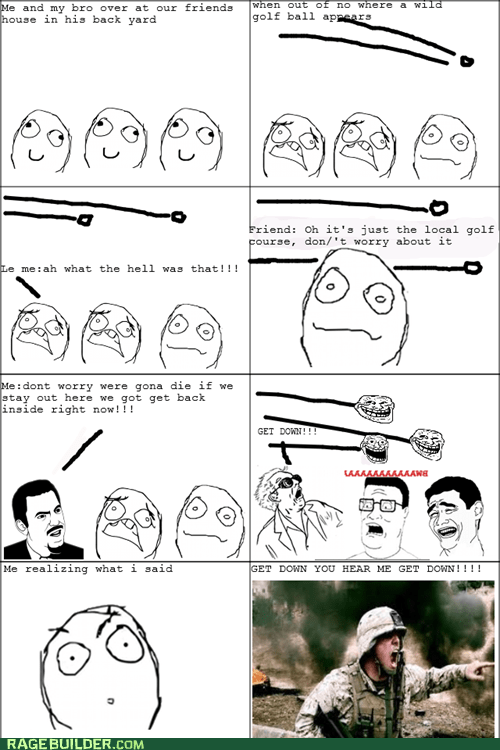 Death golf balls Rage Comics war - 5437684736
