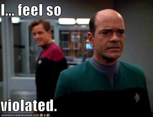 hologram,robert picardo,Star Trek,the doctor,violated