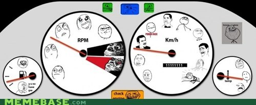 car gauge Rage Comics rpm speed