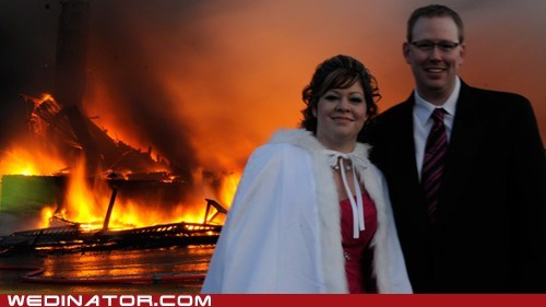 bride Canada disaster fire forest fire funny wedding photos groom lodge fire wedding - 5438174208