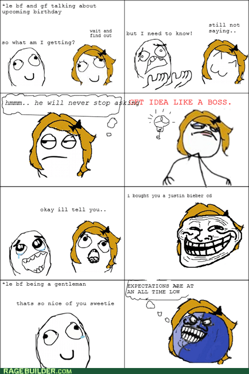 Bieber,birthday,CD,Rage Comics