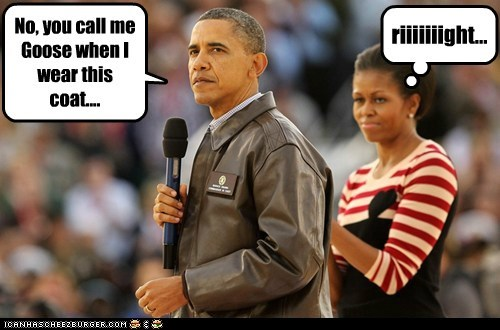 barack obama,Michelle Obama,political pictures,top gun