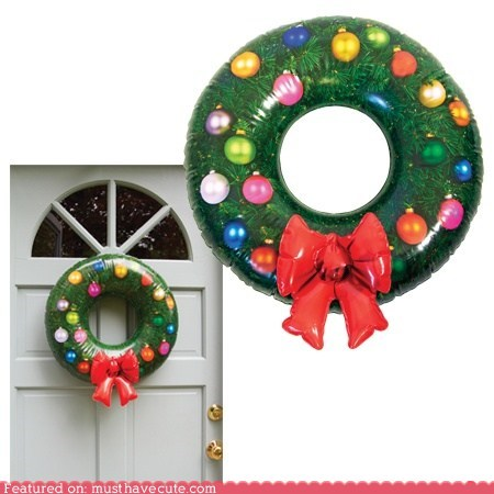 christmas,decor,holiday,inflatable,lazy,wreath