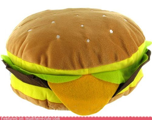 burger cheeseburger fleece Pillow Plush - 5438452736