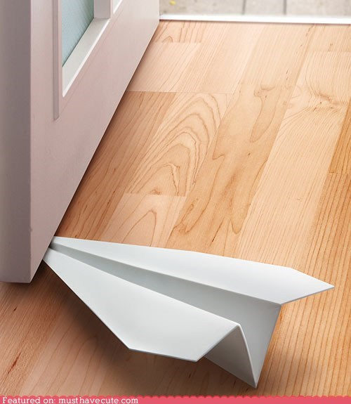 doorstop,paper,paper airplane
