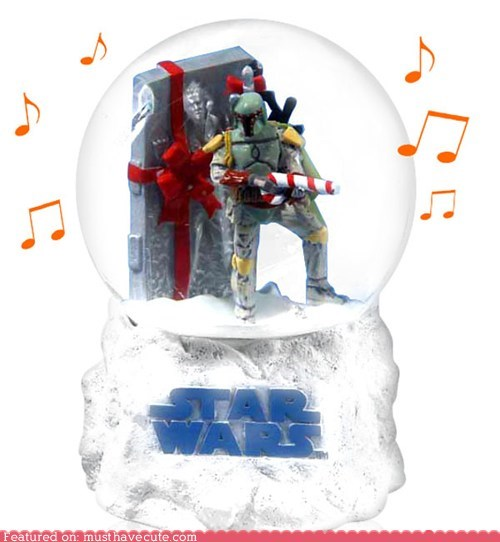 boba fett carbonite gift guide Han Solo music box snowglobe star wars - 5438544128