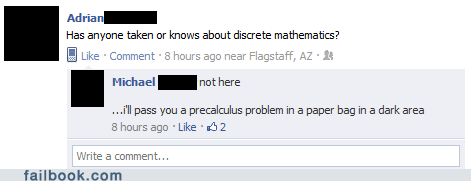 I see what you did there,math,witty reply