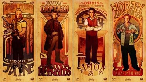 art nouveau,Fan Art,Firefly,megan lara,merch,prints,tv shows