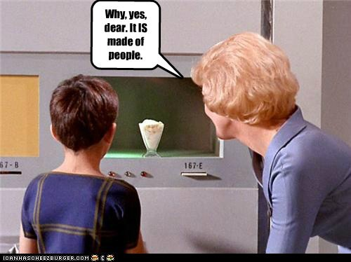 food,people,replicator,Soylent Green,Star Trek