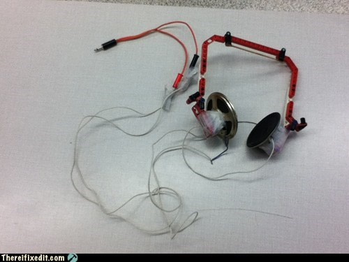 dual use headphones lego Music tape
