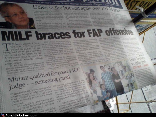 acronyms,FAIL,fap,milf,newspaper,oops,political pictures