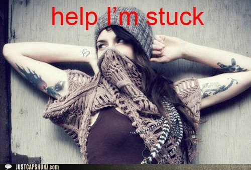help help-im-stuck help me im-stuck scarf stupid woman woman - 5439216128