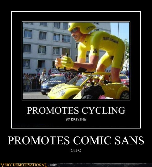 comic sans cycling float hilarious parade - 5439394304
