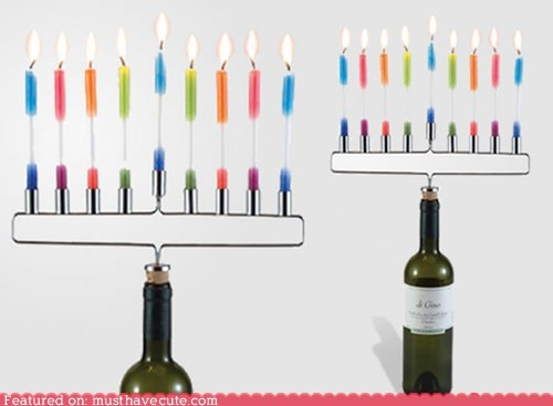 bottle candles cork gift guide hannukah menorah stopper - 5439417344