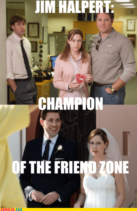 friend zone,jim halpert,married,success,the office,TV