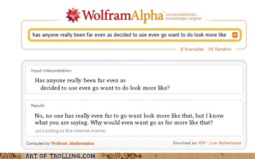 has anyone really been ev,question,wolfram alpha