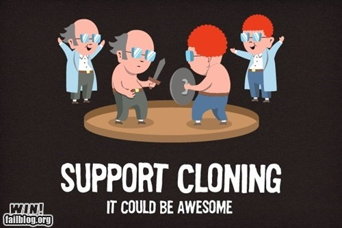arena,clever,cloning,design,science,shirt,there can only be one