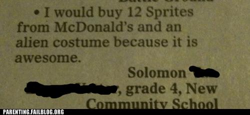 allowance Awesome Kid Alert costume kids are dumb McDonald's money newspaper Parenting Fail - 5439645184