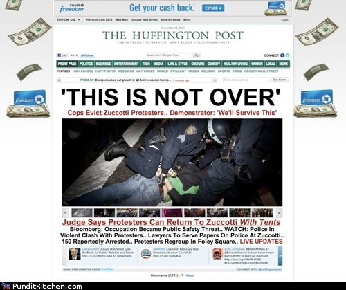 banks,chase bank,huffington post,Occupy Wall Street,political pictures