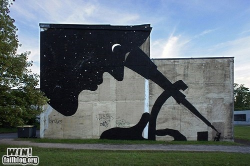 building,space,stars,Street Art,Telescope,urban