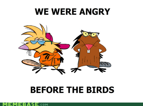 angerbirds,angry beavers,beavers,cartoons,hipster-disney-friends,nickelodeon