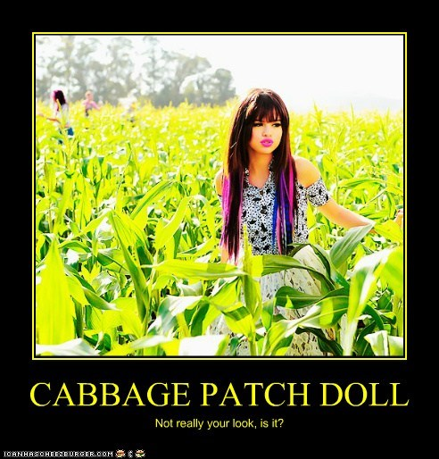 cabbage patch kid,corn,corn fields,looks,Selena Gomez,wtf