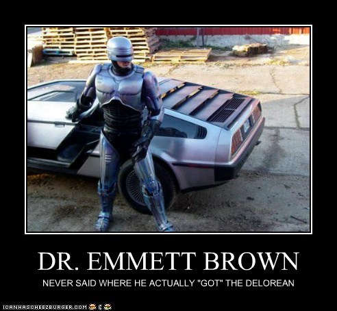 back to the future,DeLorean,dr-emmett-brown,explanation,robocop,time travel