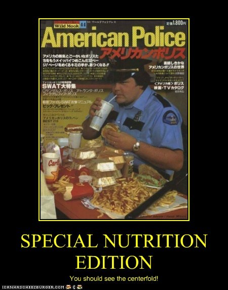 SPECIAL NUTRITION EDITION You should see the centerfold!