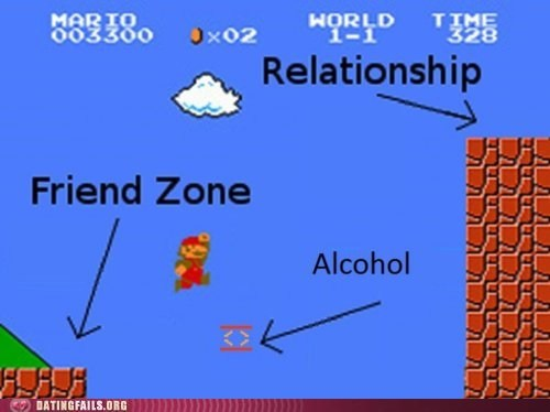 alcohol friend zone mario video games We Are Dating - 5440434176