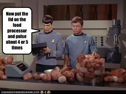 DeForest Kelley Leonard Nimoy McCoy Spock Star Trek tribbles - 5440552704