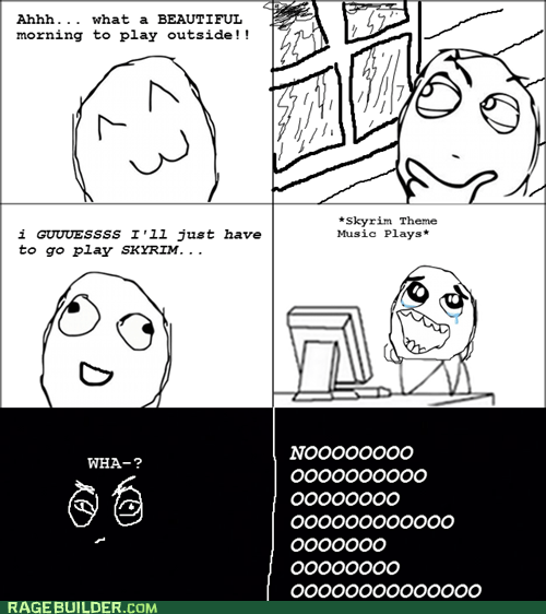 blackout power Rage Comics Skyrim storm video games - 5440708608