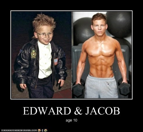 Before And After,edward cullen,grow a pair,grown up,jacob black,Jonathan Lipnicki,muscles