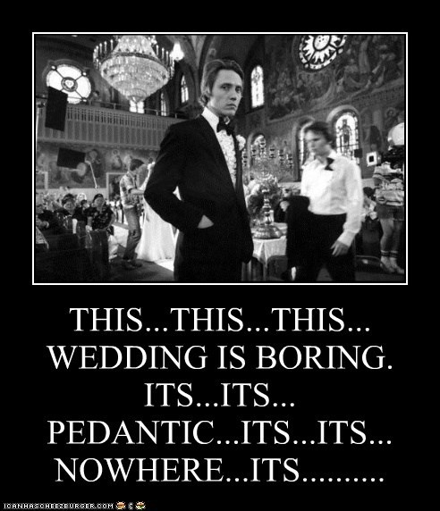 bored boring christopher walken elipsis pauses talking weddings - 5441108992