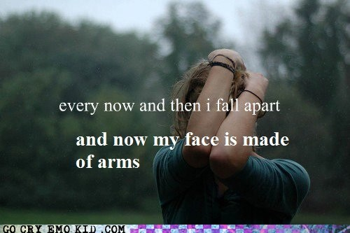 arms,emolulz,face,fall apart,feelings