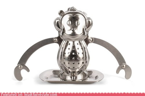 infuser,metal,monkey,tea