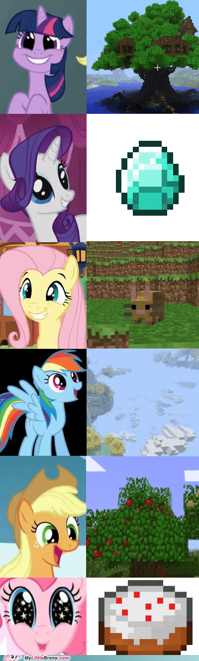 awesome mane six minecraft my little pony ponies - 5441698304