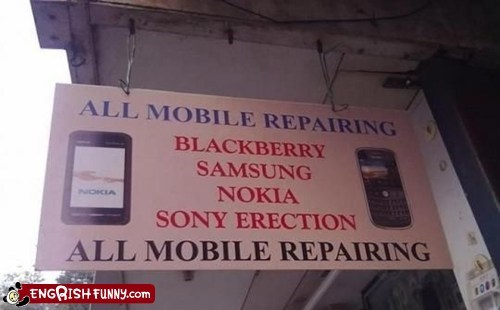 mobile repair phones sony erection sony products