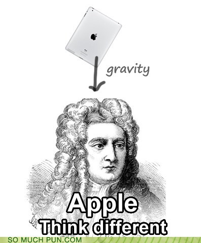 anecdote,apple,double meaning,Gravity,ipad,isaac newton,macintosh,physics