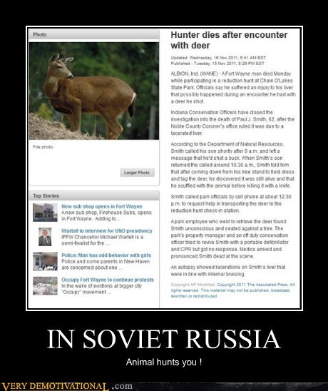 deer hilarious hunter russia soviet - 5442401536