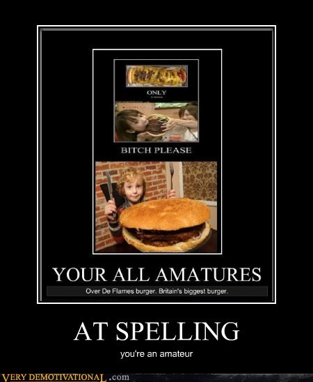 amateur burger hilarious spelling