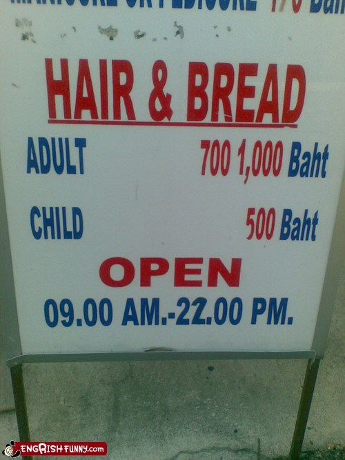 hair and bread,not appetizing,whats-on-the-menu