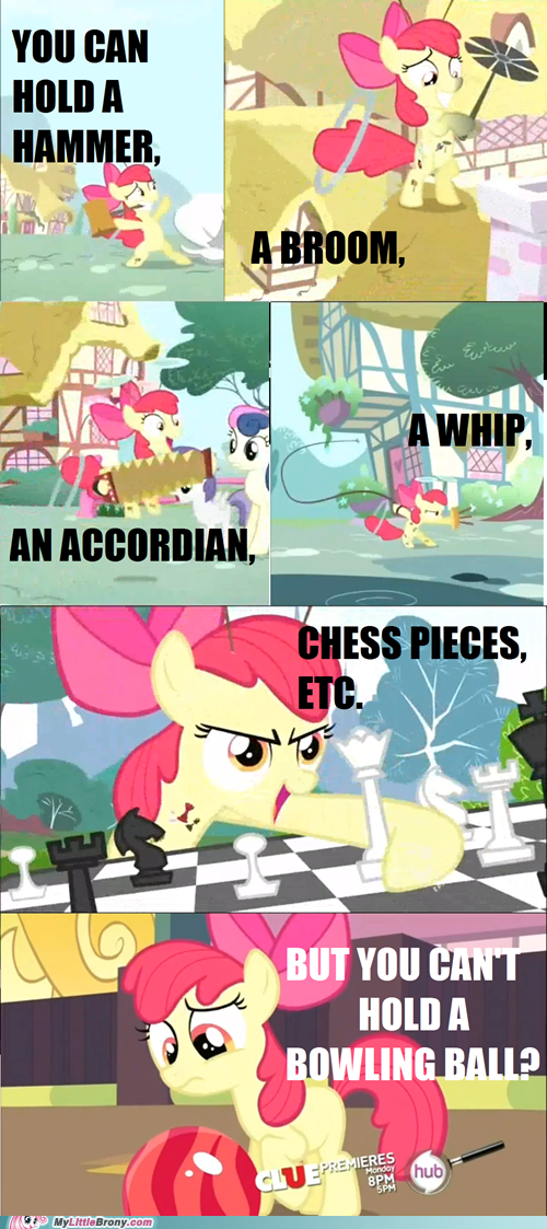 apple bloom bowling ball comics hooves seems legit - 5443188992