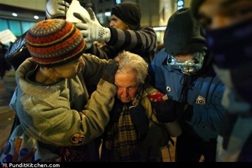 elderly,Hall of Fame,Occupy Wall Street,pepper spray,political pictures,protester,seattle