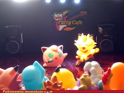 jigglypuff,Meowth,nap time,party cafe,toys,toys-games