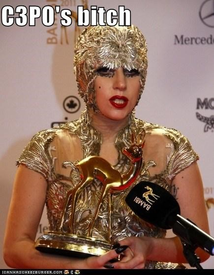 c-3p0 fashion gold lady gaga outfits wtf - 5443524096