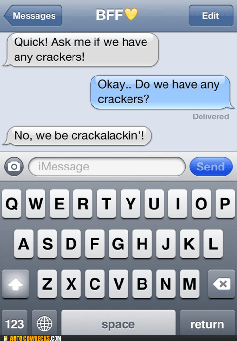 crackalackin crackers Hall of Fame joke - 5443526144