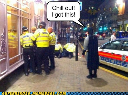 batman,chill,costume,police,Superhero IRL,wtf